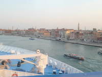 View from cabin, arriving at Venice