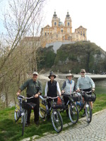 Starting our bike ride from Melk to Krems.