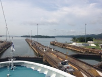 approaching the lake at the last Atlantic lock