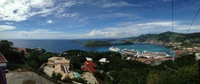 Panoramic view of St. Thomas from skyride