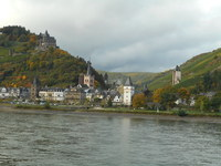 View on the Middle Rhine River from Viking Idi