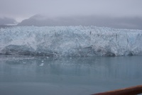 Glacier seen from the ship