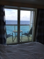 8350 - View of balcony from cabin - bed on left side of cabin