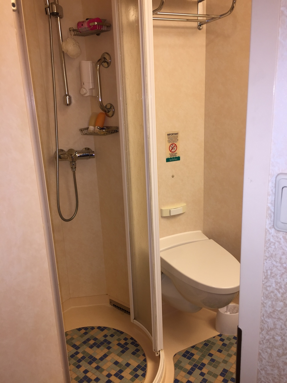8350 - Shower and toilet in bathroom - on left side of cabin Cruise ...