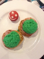 Dr. Seuss!!  It's green eggs and ham.  Granddaughters loved it!