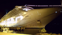 The Sun Princess alongside at Port Vila