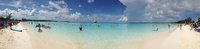 A panoramic view of the beach at Half Moon Cay