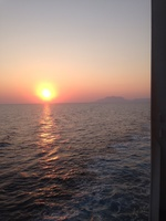 Mediterranean sunset from the Promenade Deck