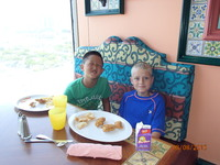 Trae & Reece enjoyed ALL the food