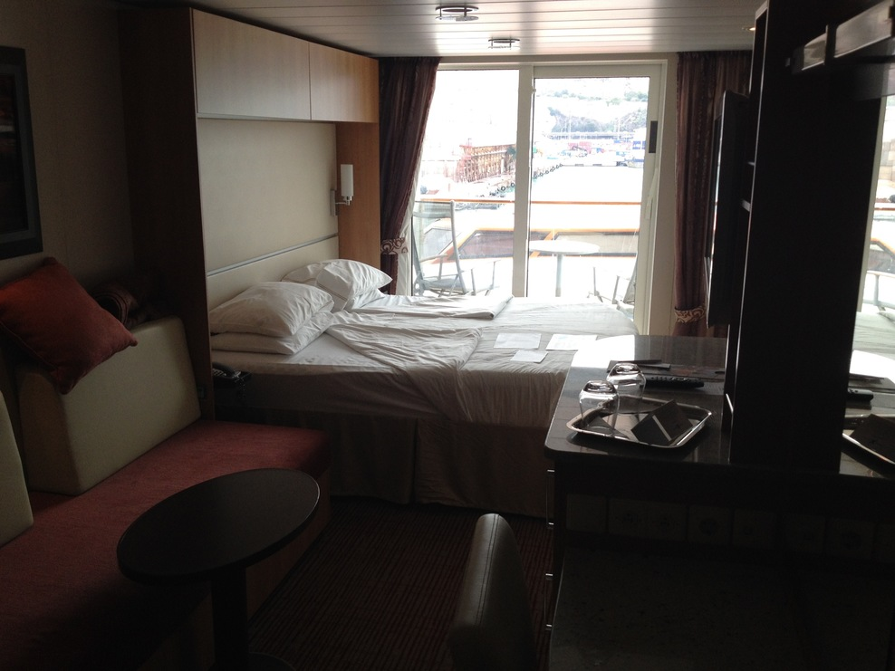 Our cabin looking out (starboard side)