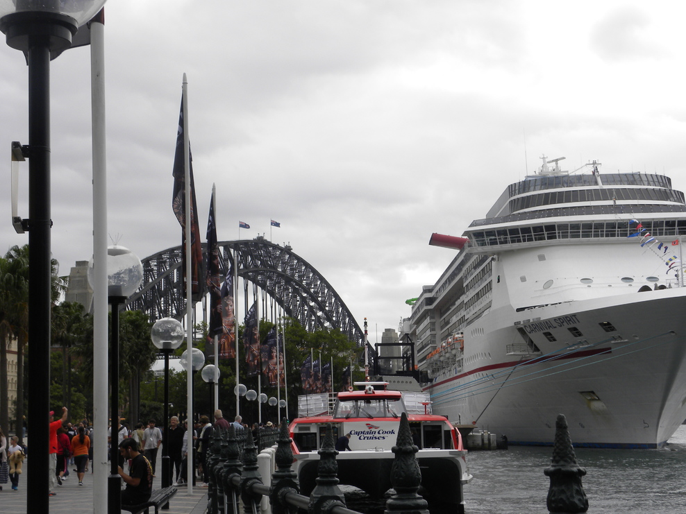 Carnival Spirit in Sydney ready to head to the South Pacific