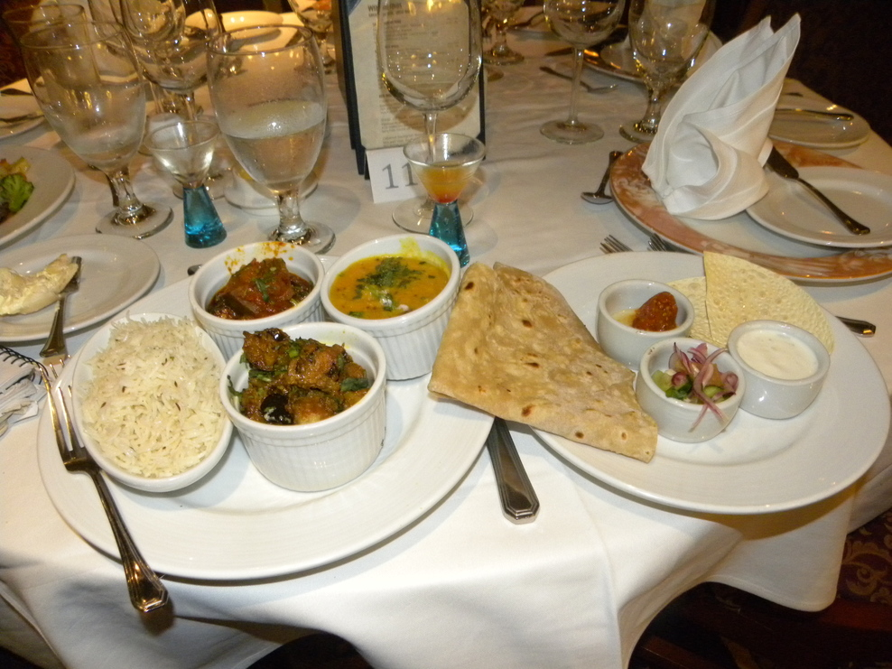 One of the meals served on board the Carnival Spirit