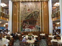 Britannia dining room and this beautiful tapestry