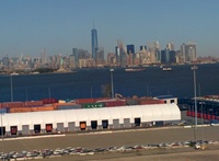 Looking at Manhatten from ship
