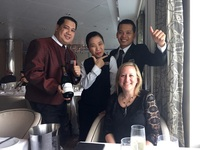 Our wonderful waiters & sommelier