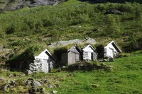 Old stone houses on the summer pasture