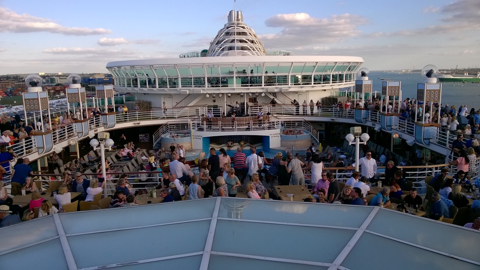 The sail away party on Deck 15