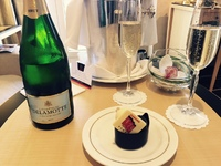 Champagne & chocolates in the suite upon embarkation. Notice the 175 years