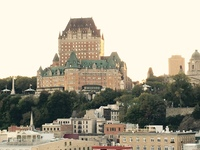 Quebec City viewed from balcony. Starboard gives you the city view