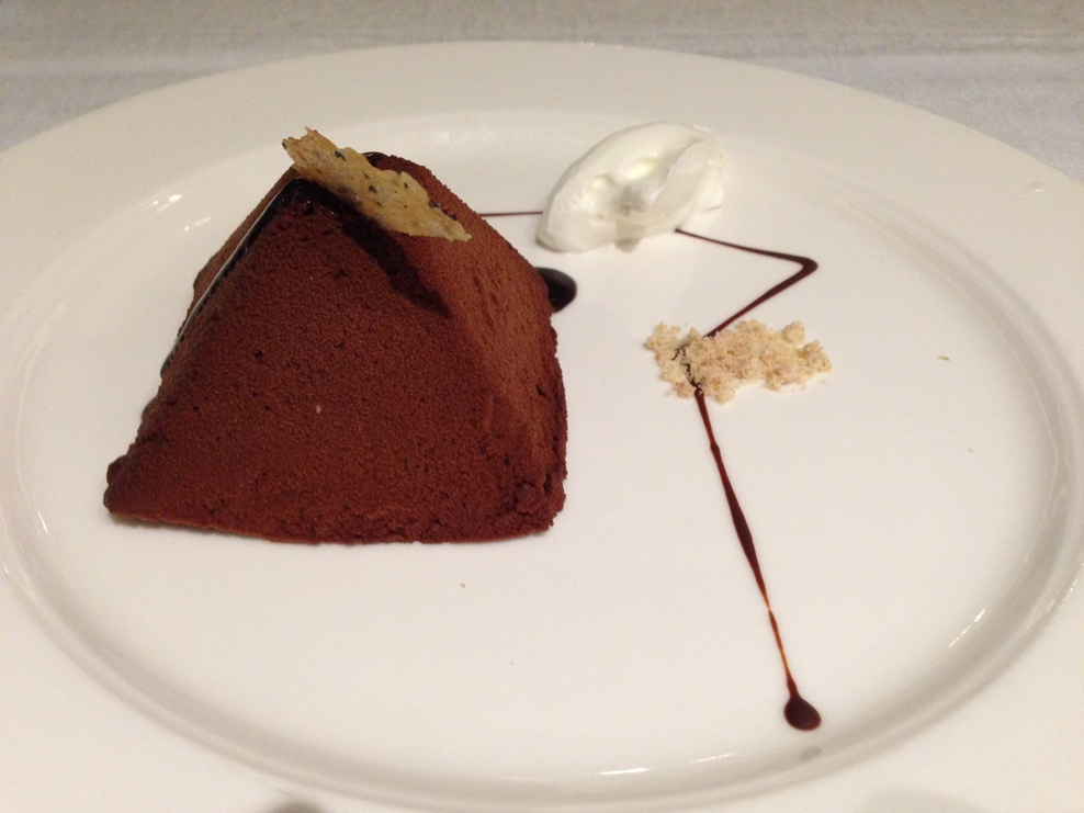 Chocolate dessert at The Restaurant