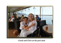 Gisele & Chris on the pool deck