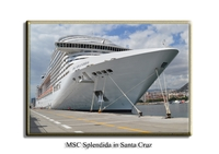 MSC Splendida in Santa Cruz