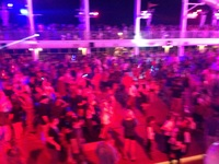 Pirate party on top deck again very busy.  We stood at the very top