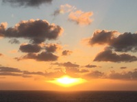 One of the sunsets at sea.