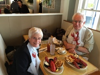 Lobster lunch in Bar Harbor