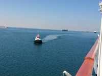 Leading the convoy down the Suez Canal