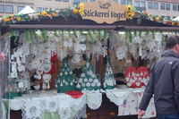 A stall in the market in Nuremberg