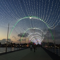 Queen Emma bridge decorated for Christmas, Curacao