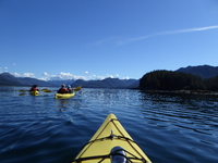 Beautiful Alaskan summer day for kayaking