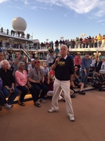 Jack Jones singing The Love Boat theme song at Sail-away