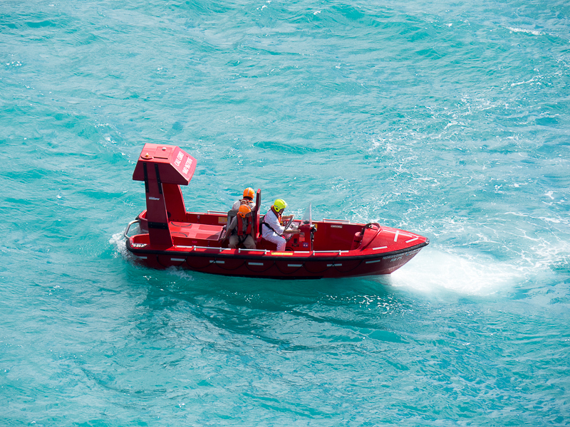 Testing of safety boats