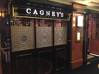 Cagney's with definite asian theming leftover