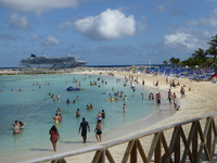 Main beach Great Stirrup Cay