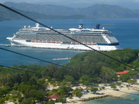 Reflection from Labadee zipline