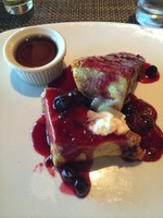 French toast at private dining breakfast for suite passengers