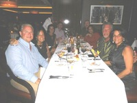 dinner at Cagneys with our group and new friends