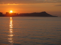 Sun rise over Diamond Head