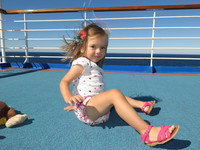 On the top deck