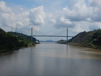 This is the Centenial Bridge over the Panama Canal