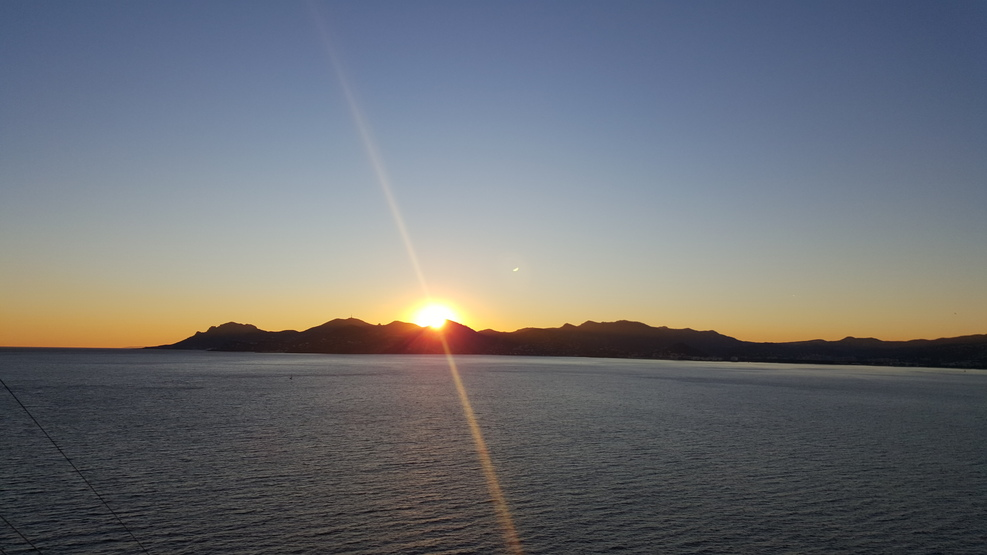 Sunset off Cannes