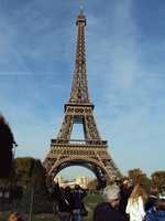 eiffel tower - on our bus tour
