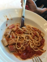 Pasta of the Day: Seafood Marinara (crab sticks!!)