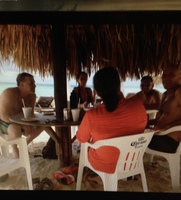 our table under palapa at beach  Cozumel