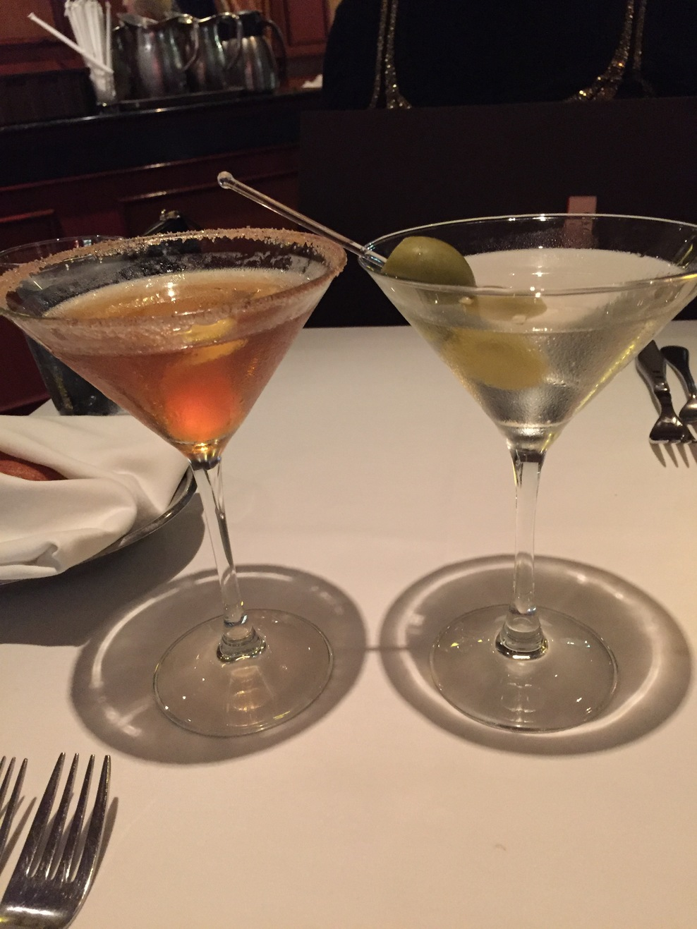 The last martini on our last night aboard. At Cagneys. Yum!