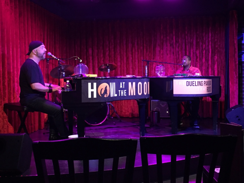 Howl at the Moon Dueling pianos. Awesome!