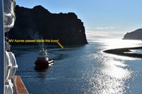 CMV MV Azores Entering Heimey harbour Westman Islands Iceland
